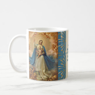 Mary Queen of Heaven Jesus Angels Coffee Mug
