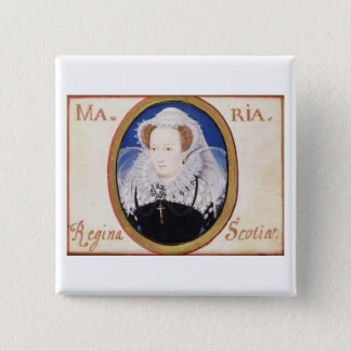 Mary Queen of Scots (1542-87) (gouache on vellum) 15 Cm Square Badge