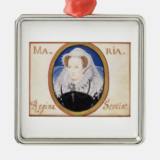 Mary Queen of Scots (1542-87) (gouache on vellum) Metal Ornament