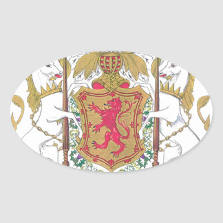 MARY QUEEN OF SCOTS COURT OF ARMS OVAL STICKER