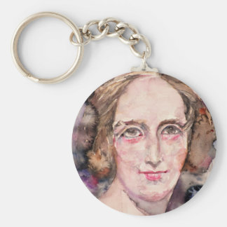mary shelley - watercolor portrait key ring