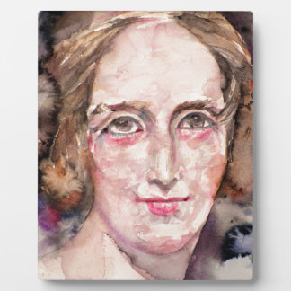 mary shelley - watercolor portrait plaque