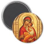 Mary The God-Bearer 7.5 Cm Round Magnet