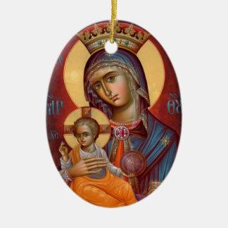 Mary - THEOTOKOS Ceramic Ornament