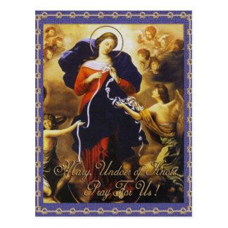 MARY, UNDOER OF KNOTS PRAY FOR US POSTCARD