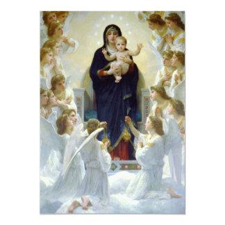 Mary with Angels - Regina Angelorum 13 Cm X 18 Cm Invitation Card