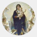 Mary with Angels - Regina Angelorum Round Sticker