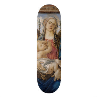 Mary with Child and Singing Angels by Botticelli Skate Board