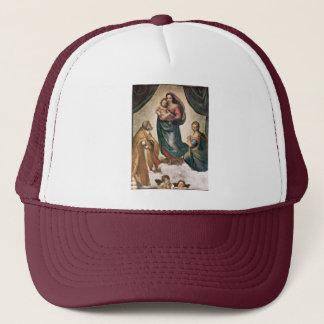 Mary With Christ Child St. Pope Sixtus Ii And St. Trucker Hat