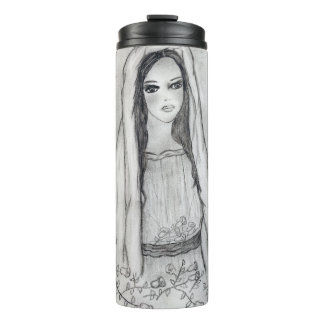 Mary with Roses Thermal Tumbler