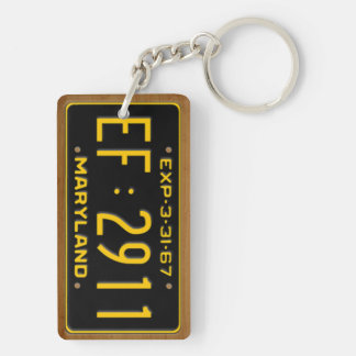 Maryland 1967 Vintage License Plate Keychain