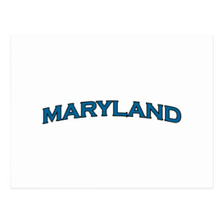 Maryland Arched Text Logo Postcard