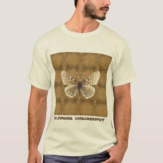 Maryland Baltimore Checker spot Butterfly T-Shirt