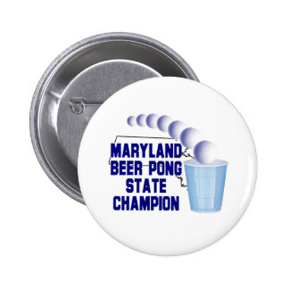 Maryland Beer Pong Champion Buttons