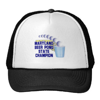 Maryland Beer Pong Champion Trucker Hat