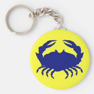 Maryland Blue Crab Basic Round Button Key Ring