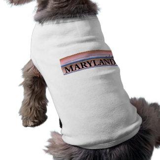 Maryland Chesapeake Bay Scene Sleeveless Dog Shirt