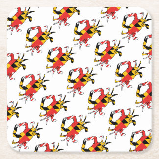 Maryland Crab Square Paper Coaster