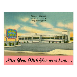 Maryland, Dixie Diners, Baltimore Postcard