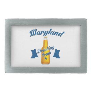 Maryland Drinking team Rectangular Belt Buckles