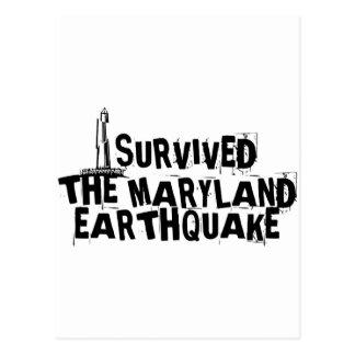 MARYLAND EARTHQUAKE POSTCARD