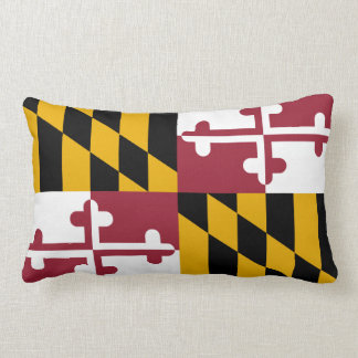 Maryland flag, American state flag Throw Pillow