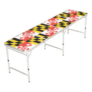 Maryland Flag Beer Pong Folding Table