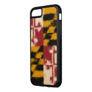 Maryland Flag Carved iPhone 8/7 Case