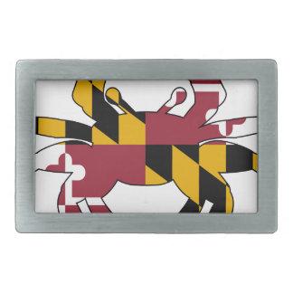 Maryland Flag Crab Belt Buckle