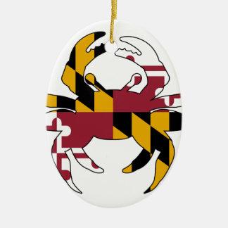 Maryland Flag Crab Ceramic Ornament