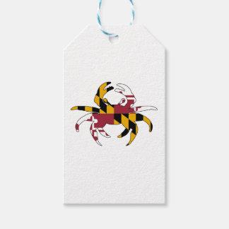 Maryland Flag Crab Gift Tags