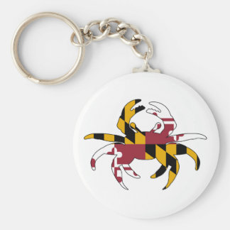 Maryland Flag Crab Key Ring