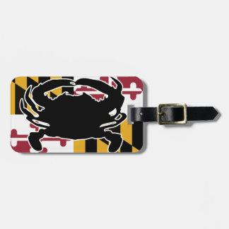 Maryland Flag/Crab luggage tag