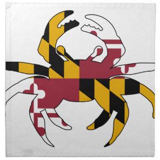 Maryland Flag Crab Napkin