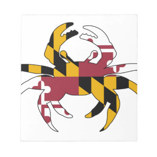 Maryland Flag Crab Notepad