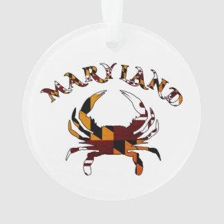 Maryland Flag Crab Ornament