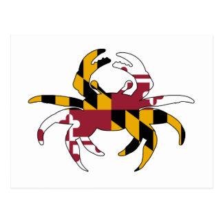 Maryland Flag Crab Postcard