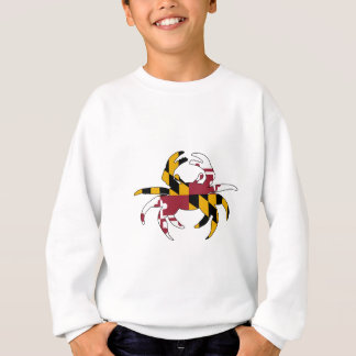 Maryland Flag Crab Sweatshirt