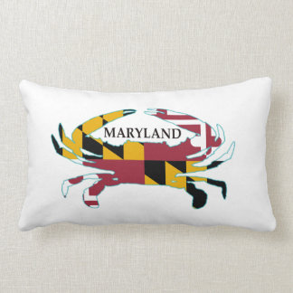 Maryland Flag Crab Throw Pillow