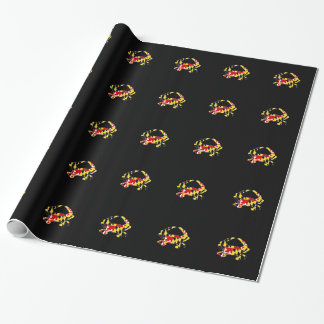 Maryland Flag Crab Wrapping Paper