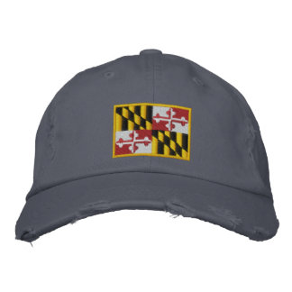 Maryland Flag Embroidered Hat
