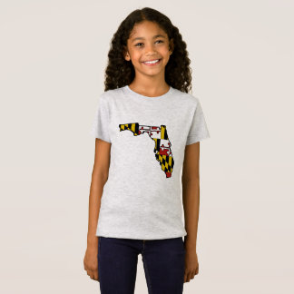 Maryland flag Florida outline girls tshirt