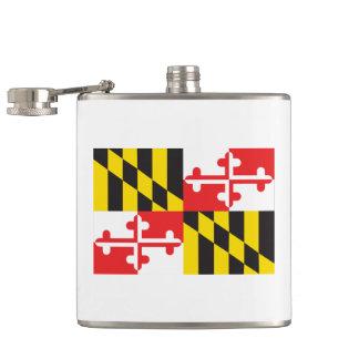 Maryland Flag Hip Flask