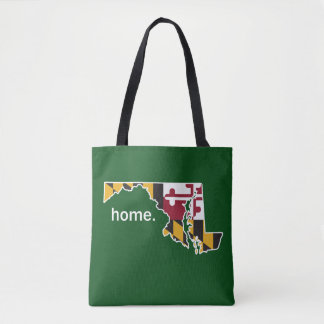 Maryland Flag home bag - forest green