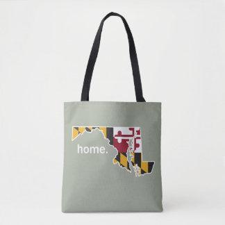 Maryland Flag home bag - olive