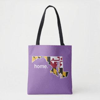 Maryland Flag home bag - purple