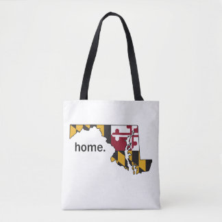 Maryland Flag home bag - white