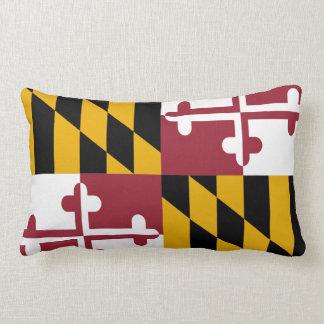 Maryland Flag Lumbar Throw Pillow