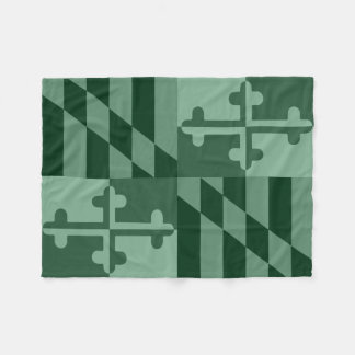 Maryland Flag Monochromatic blanket - forest green
