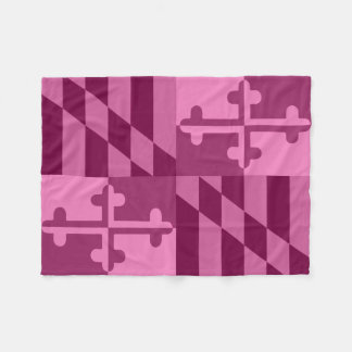 Maryland Flag Monochromatic blanket - hot pink